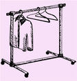 Mobile wardrobe vector image