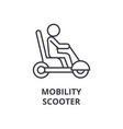 mobility scooter line icon outline sign linear vector image
