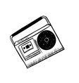 musical equipment retro tape recorders hand vector image