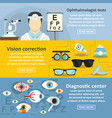 ophthalmologist banner horizontal set flat style vector image vector image