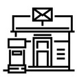 post office line vector image
