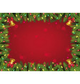 red and green christmas background - decorated vector image vector image