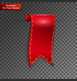 red bookmarks isolated on transparent vector image vector image