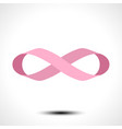 ribbon in shape limitless infinity symbol vector image
