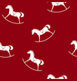 seamless pattern with a rocking horse vector image vector image