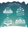Set of Christmas decoration typography tag label vector image vector image