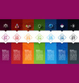 seven colorful bars with business icon vector image