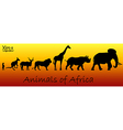 Silhouettes of animals of Africa vector image