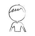 sketch draw upper body man cartoon vector image vector image