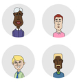 Sketch people icons vector image vector image