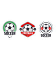 soccer football league logo templates set sports vector image vector image