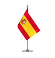 spanish flag hanging on the metallic pole vector image vector image
