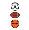 Sport Balls SoccerFootball Basketball vector image