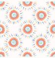 sun spiral confetti polka dot pattern vector image vector image