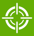 target icon green vector image vector image