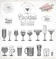 Typographical Drinks Design Elements vector image vector image