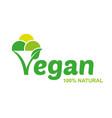 vegam ice cream logo vector image vector image