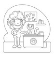 Vet coloring page