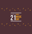 world music day celebration of background vector image vector image