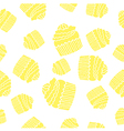 Yellow cake pattern vector image