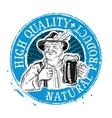 Beer ale logo design template Drink vector image