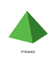 3d shape pyramid vector image