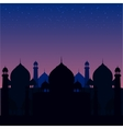 a blue religious background with vector image