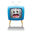 a television with face vector image