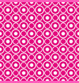 abstract seamless white polka dots on neon pink vector image
