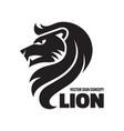 animal lion head - logo template concept vector image