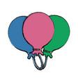 balloons celebration symbol vector image vector image