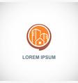building round company logo vector image vector image