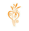 butterfly and heart vector image vector image