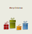 Christmas card with colorful gifts vector image vector image