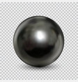 chrome steel ball realistic isolated on white vector image vector image