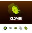 Clover icon in different style vector image
