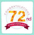 colorful polygonal anniversary logo 3 072 vector image vector image