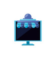 computer monitor with parasol store vector image vector image