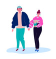 couple on a date - modern colorful flat design vector image