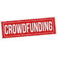 crowdfunding sign or stamp vector image vector image