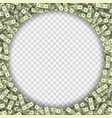 dollar banknotes frame vector image vector image