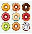 Donuts icons set in cartoon style vector image vector image