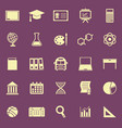 education color icons on purple background vector image vector image