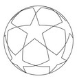 flat black and white soccer ball star vector image vector image