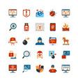 Flat Design Hacker Icons vector image vector image