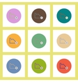 flat icons set of statistics graph and x mark vector image vector image