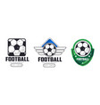 football tournament logo templates set sport team vector image vector image