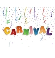 Handmade typeface carnival vector image vector image