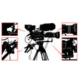 High detailed professional television video camera vector image