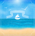 Holiday card with beach for your summer design vector image vector image